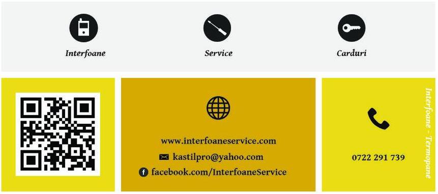 Instalare - Service - Inlocuire Cartele/Carduri de acces - Interfoane/Videointerfoane Arad
